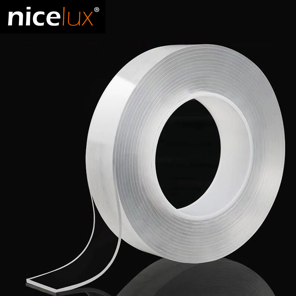 Double Sided Nano Magic Tape Recycle Use Strong Adhesive Waterproof Transparent Super Fix Gel Grip Tape Home Improvement