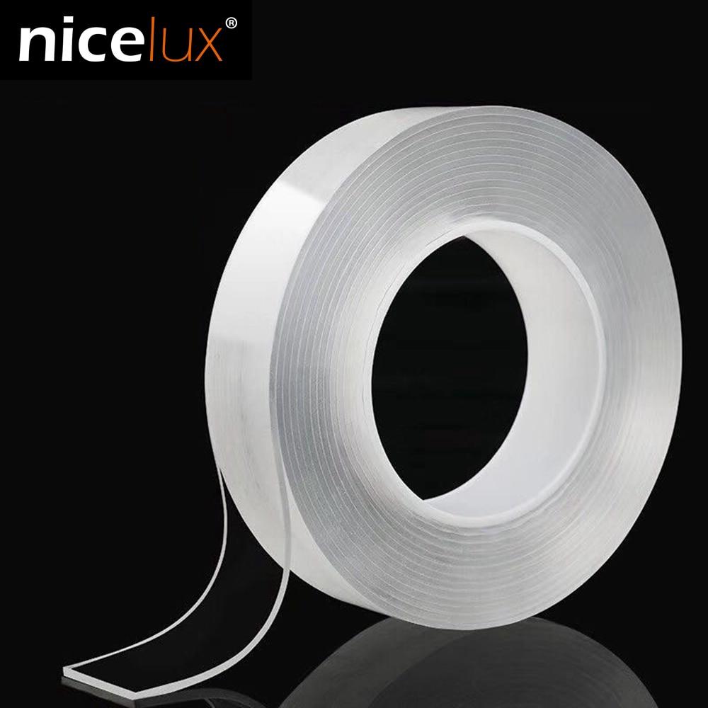 Нано двухсторонняя лента рециркуляции использовать сильный клей водонепроницаемый прозрачный супер фиксация гелевая лента для улучшения ...