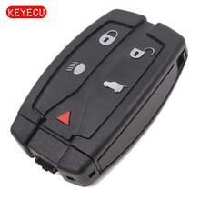 Keyecu New Replacement Shell Smart Remote Key Case Fob 5 Button for Land Rover Freelander 2