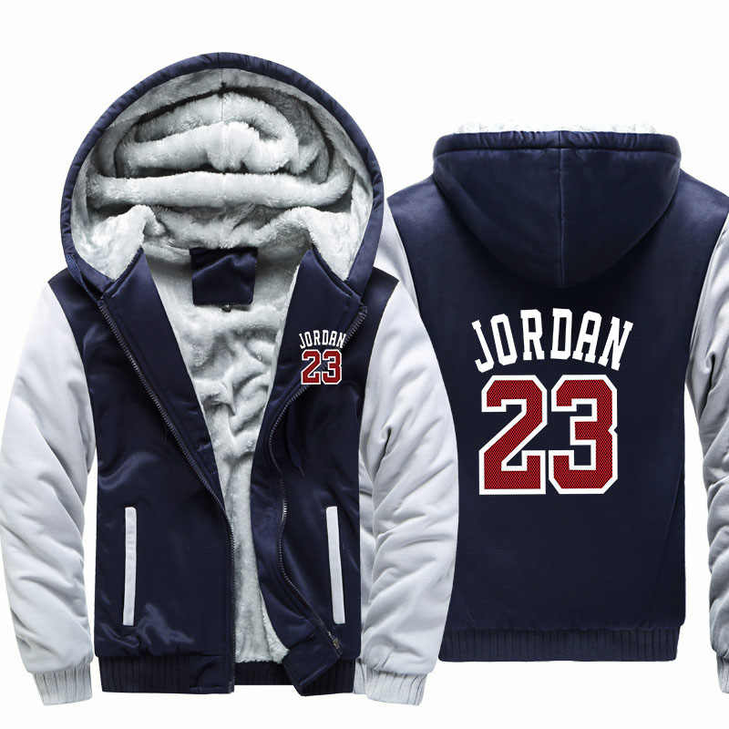 b925029277a24f New camouflage thick cardigan hooded jacket autumn and winter zipper JORDAN  23 Plus thick velvet hooded