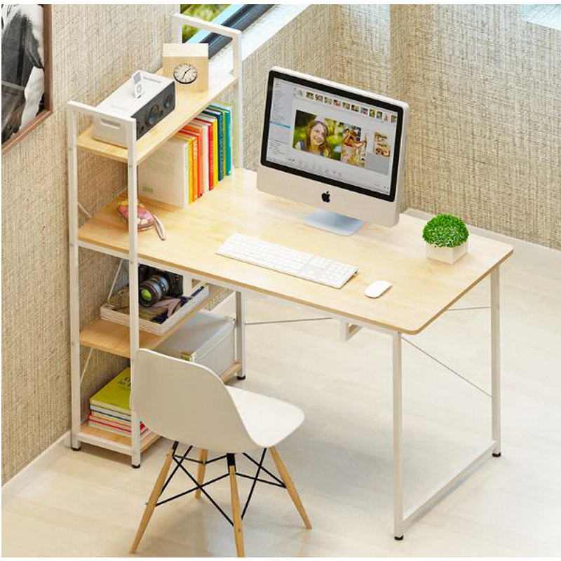 250617/Computer desk and desk style simple modern laptop computer desk simple bookcase combination table 250616 computer desk and desk style modern simple desk with bookcase desk simple table solder edge e1 grade sheet material