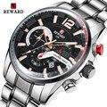 Награда Топ бренд часы мужские модные спортивные кварцевые часы из нержавеющей стали бизнес водонепроницаемые мужские часы 2020 Relogio Masculino