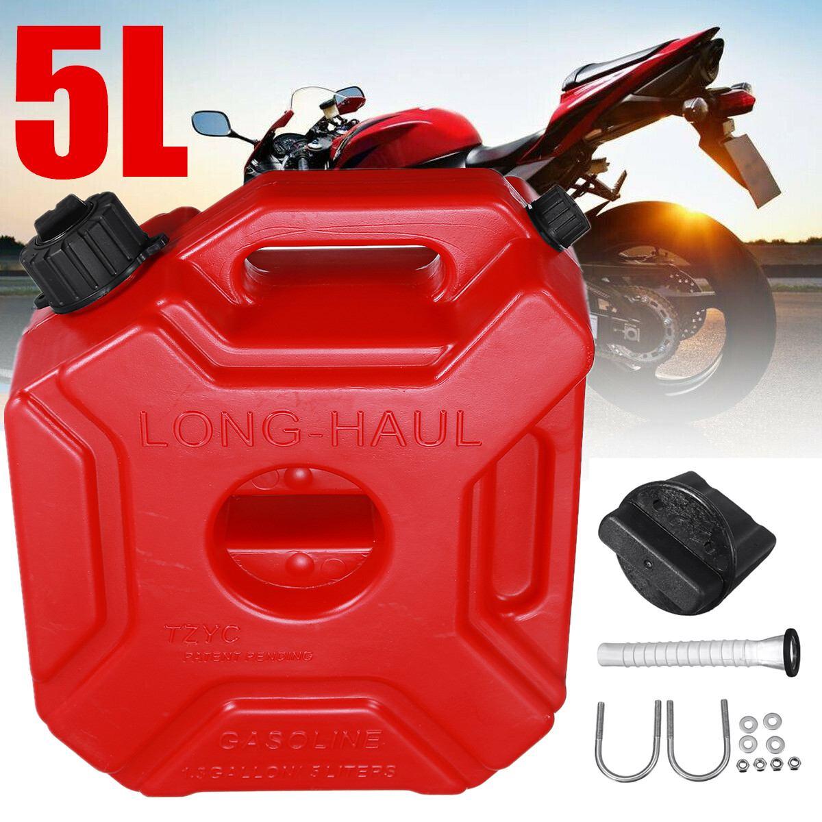 Partol 5L Serbatoi di Carburante di Plastica Lattine di Auto A Benzina Jerry Può Montare Moto Jerrycan Gas Può Benzina Olio Contenitore Bombola di combustibile