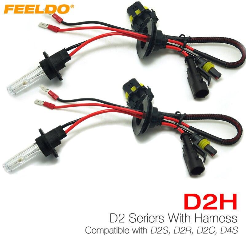 FEELDO 5Pair 35W D2H HID Xenon Light Bulbs Compatible with D2S/D2R/D2C/D4S for Retrofit 4300k-12000k #FD-4489