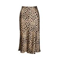 Лето 2018 kawaii boho bodycon Леопардовый принт высокая талия юбки женские миди леопардовая юбка панк уличная корейский стиль 0725 159