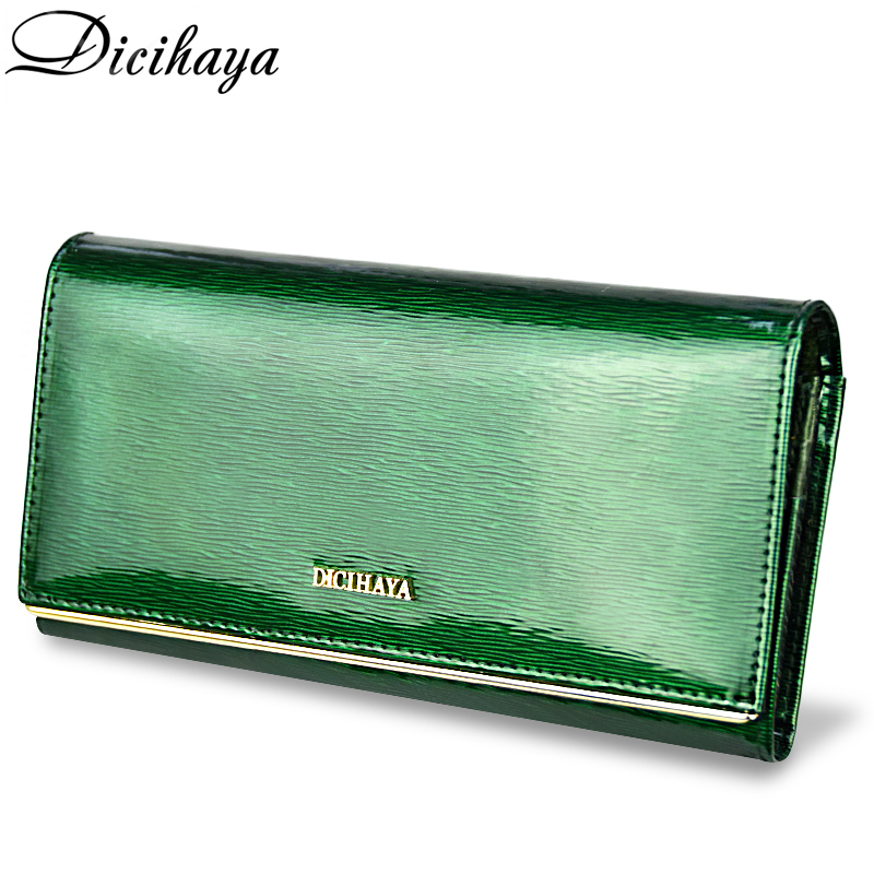 DICIHAYA Womens Wallets Brand Purses Female Long European and American Style Genuine Leather Designer Wallet Coin Purse Ladies handbag 2018 new wallet european and american fashion eighty percent off ladies long wallet