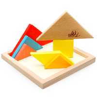 free shipping wooden Large tangoing baby puzzle toy 3y above Tangram