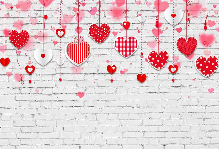 MEHOFOTO Sfondo fotografia bella coppia di rosa del cuore di amore di sfondo muro di mattoni studio photo booth di san valentino celebrazione della giornata