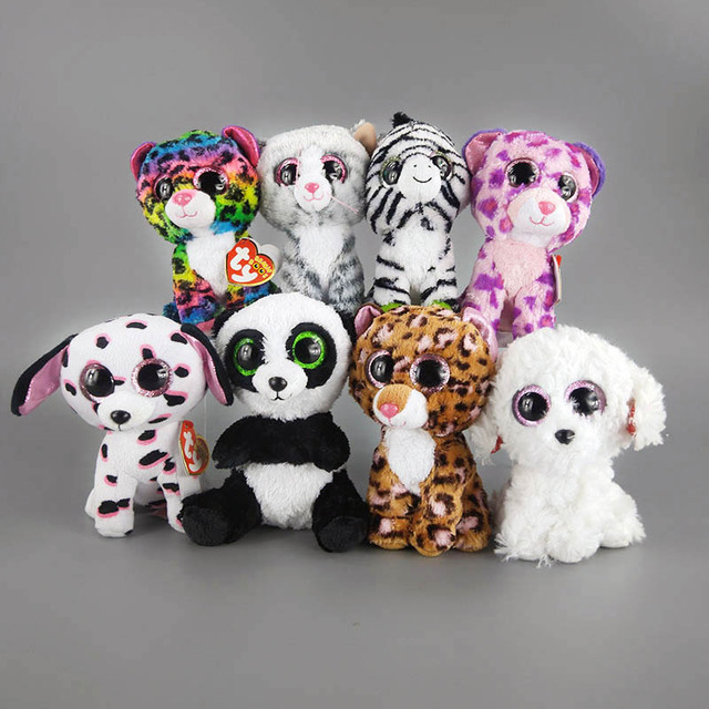 8 Style New Arrive Ty Beanie Boos Big Eyes Owl Dog And Cute Cat TY Animal f3ced0f9e991
