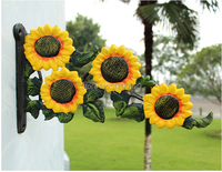 Wall Hanger Vintage Country Creative Sunflower for Coat Home Decoration Towel Clothes Iron Rack Hook AC 297