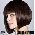 SHENGMEIYUAN Hot Sexy Cute Girl Ladies Pro Salon 30cm Short Straight  BOBO Head Slim Face Wig Hair Cosplay Hair Free ship