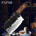 XITUO Высокоуглеродистая сталь ковка ручной работы нож японский Santoku шеф-повар нож антипригарный Nakiri Кливер Gyuto Kiritsuke нож