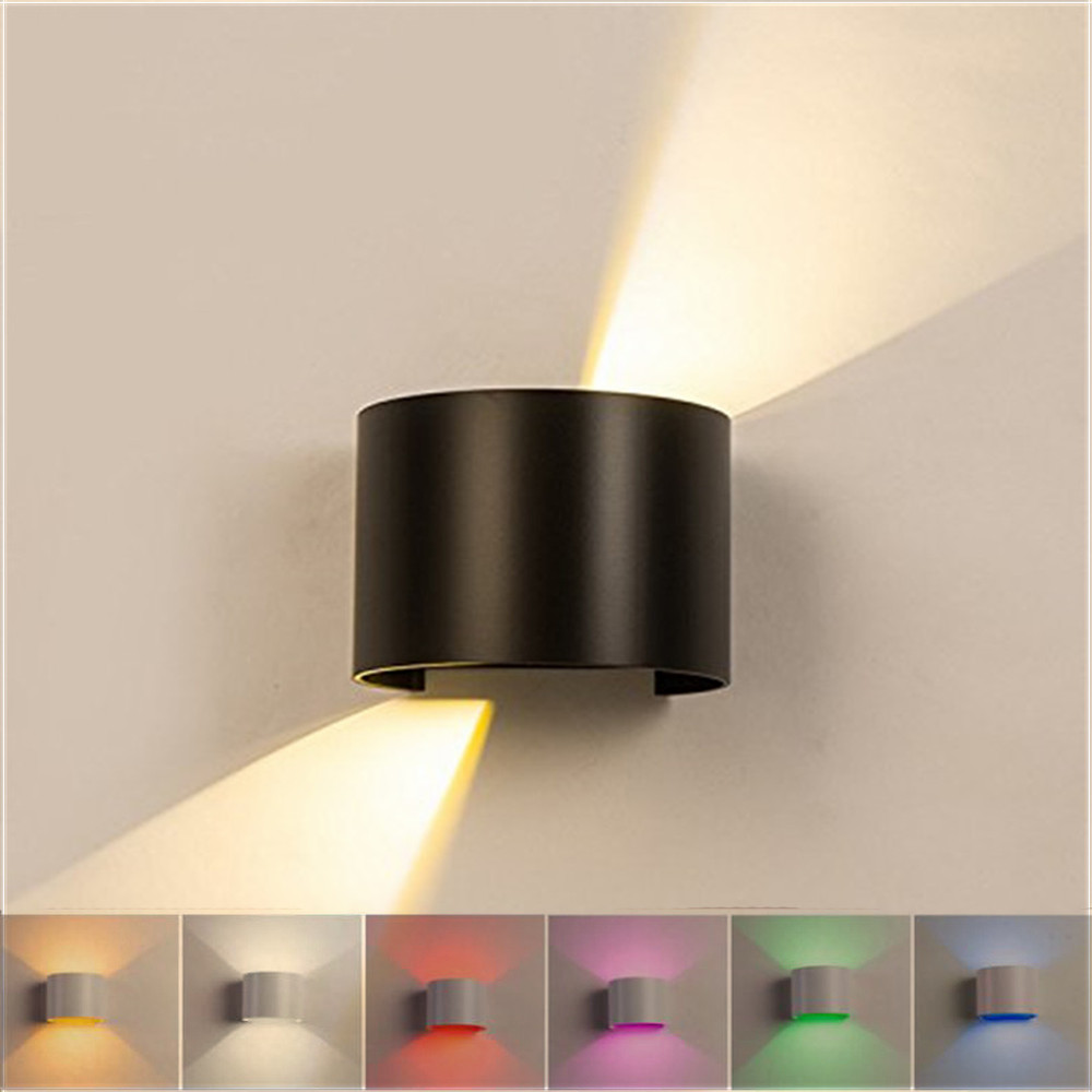 Waterproof Outdoor Indoor Led Wall Light Lamp Ac85-220v 12w Cob Led Sconces Modern Home Lighting Adjustable Light Decoration To Be Highly Praised And Appreciated By The Consuming Public Lights & Lighting