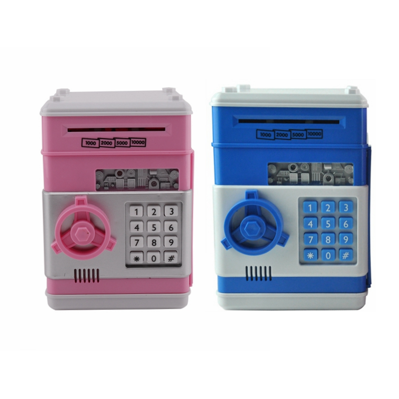 Eworld Hot New Piggy Bank Mini ATM Money Box Safety Electronic Password Chewing Coin Cas ...