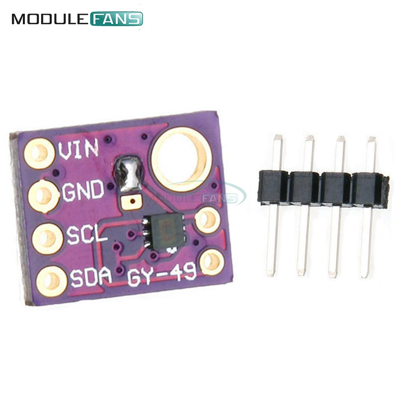 MAX44009 GY-49 Ambient Light Sensor Module with Header 4P Pin Module fit Arduino