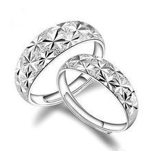 Мужское и женское кольцо из серебра 925 пробы с полными звездами