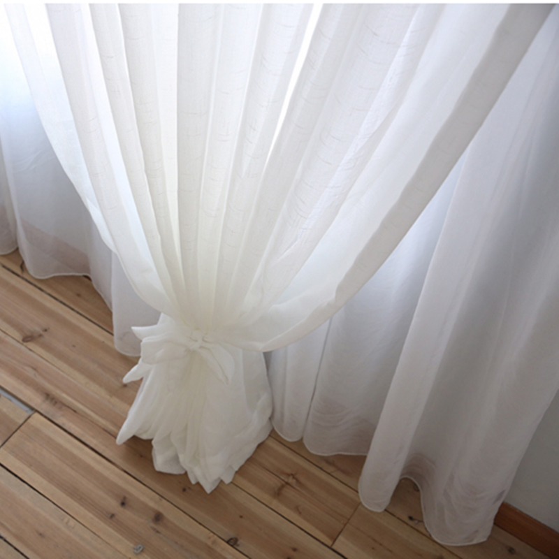 Japan window treatment soild tulle curtains for living room white kitchen curtains Sheer Voile Blinds Drapes