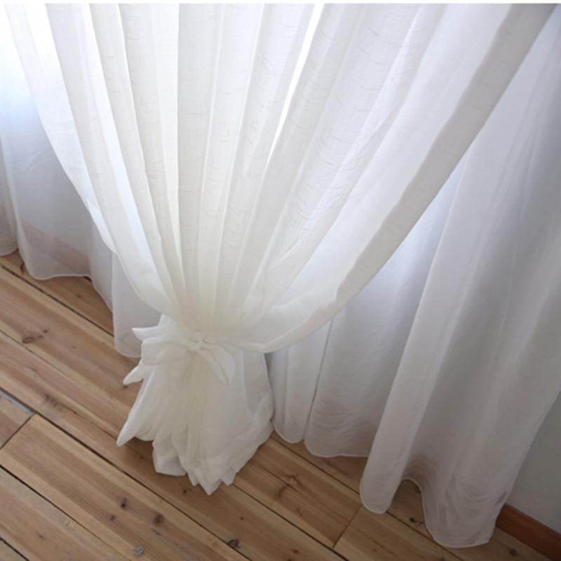 White Kitchen Blinds: Japan Window Soild Tulle Curtains For Living Room White