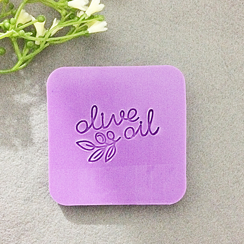 Free shipping HANDMADE and olive pattern Mini diy soap stamp chaprter seal 4*4cm
