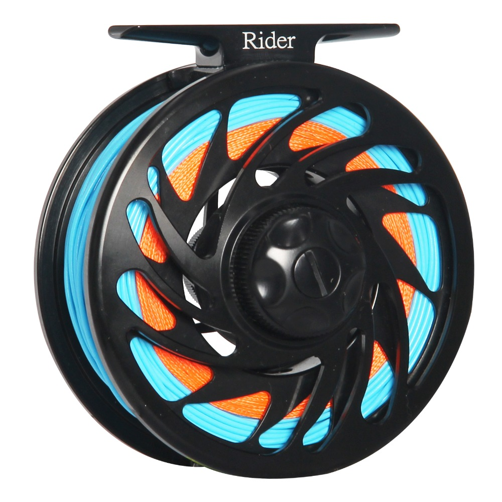 CNC Machined Aluminum Fly Fishing Reel Large Arbor Left and Right Handed Changeable Disc Drag System Black Color Fly Reel Combo vintage women jeans calca feminina 2017 fashion new denim jeans tie dye washed loose zipper fly women jeans wide leg pants woman