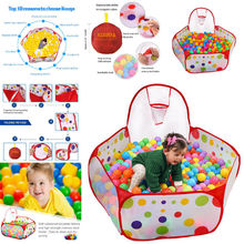 Portable Kids Child Ball Pit Pool Play Tent Mats for Baby Indoor And Outdoor Game Toy Tent 90*90*30cm
