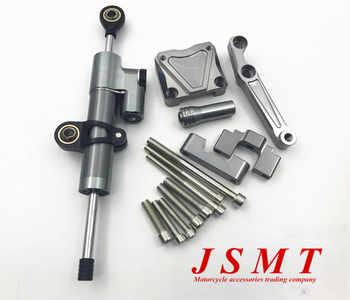 CNC amortiguador de dirección estabilizador y titanio soporte de montaje para Kawasaki Ninja 300 NINJA300 EX300 2013-2016, 2014 de 2015