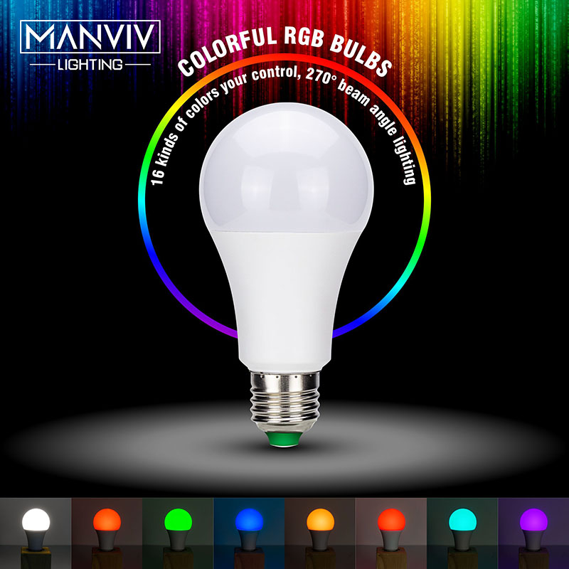 E27 LED 16 Color Changing RGB 5W 10W 15W 220V RGB Magic Holiday Bulb Lamp Led Light Spotlight RF Remote Control Memory Function