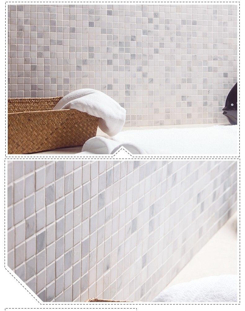 Marmor Mosaik Dusche Schoner Luxusmarmorbadezimmerinnenraum In Der