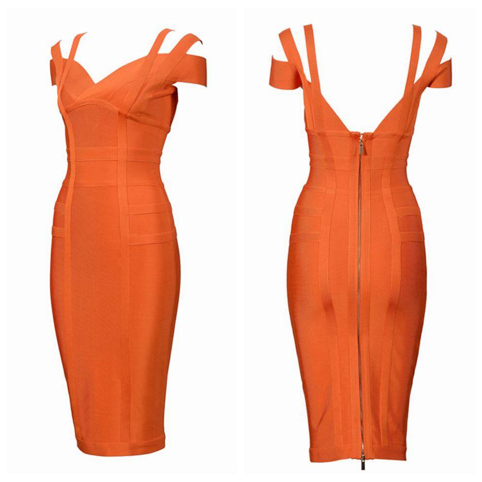 2018 neueste Sommer Verband Kleid Frauen Promi Spaghetti Strap Aus ...
