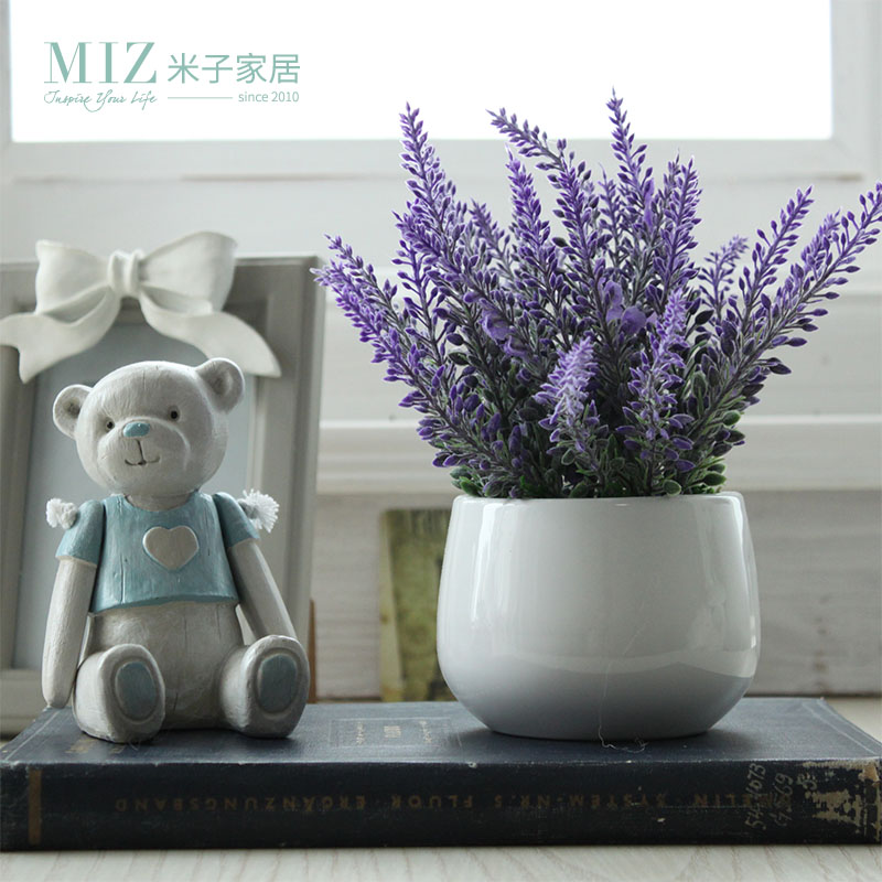Buy Miz Home Lavender Artificial Flower Potted Decor For Home Good Quality