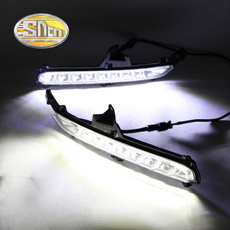 SNCN LED Daytime Running Light For Kia Rio K2 2015 2016,Car Accessories Waterproof ABS 12V DRL Fog Lamp Decoration akd car styling led drl for kia k2 2012 2014 new rio eye brow light led external lamp signal parking accessories