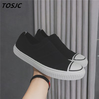 TOSJC Man Fashion Casual Sneaker Lace Up Vulcanized Shoes Zapatos Hombre Man Flat Shoes Teenage Spring Summer Shoes