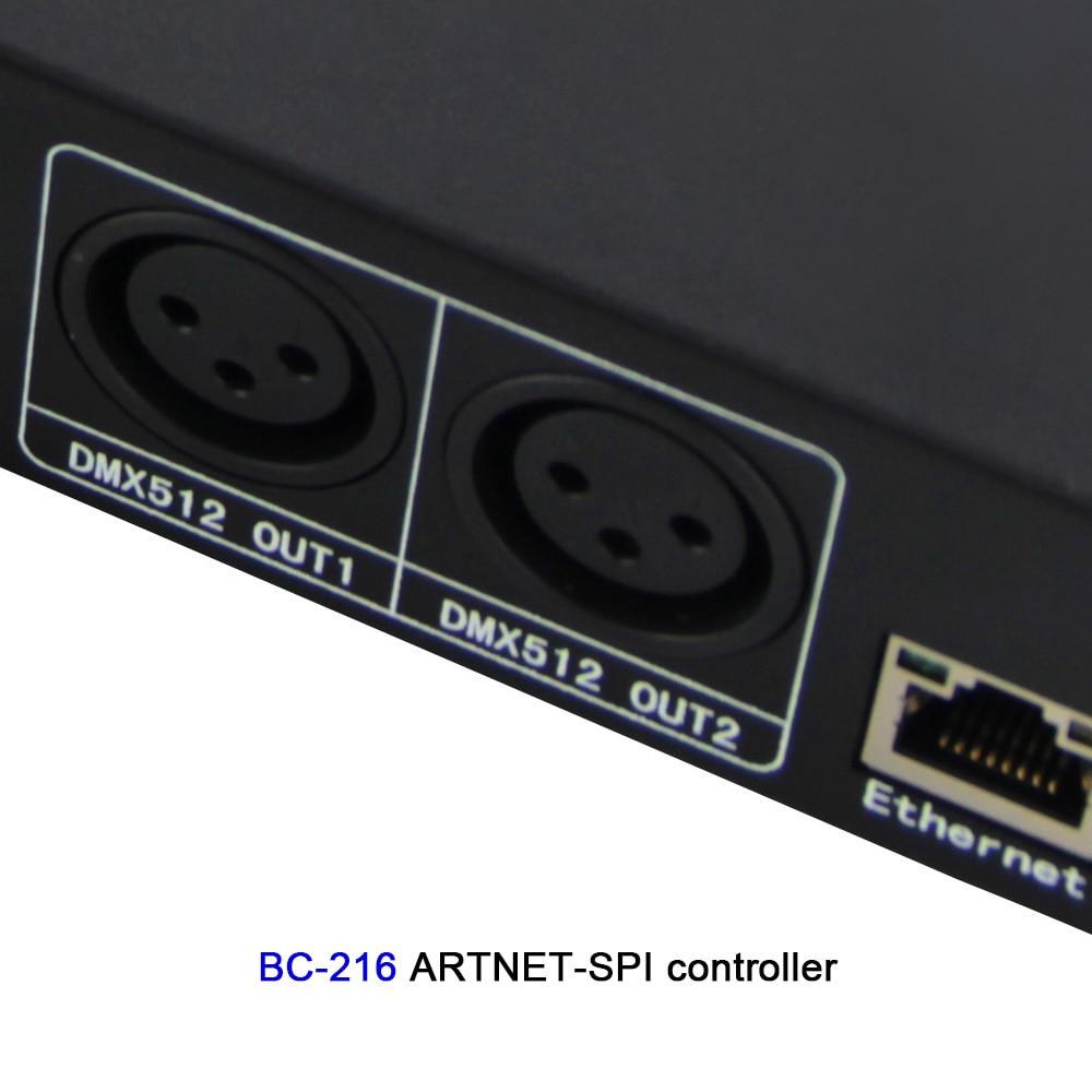 BC 204 4 CH/BC 216 16CH Artnet naar SPI/DMX WS2811 WS2812B SK6812 pixel licht controller; eternet protocol ingang; DC5V 24V - 3