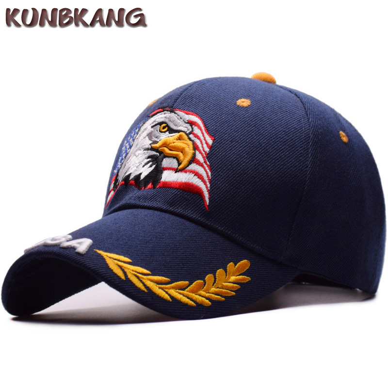 5bc3f8268e964 New Men Eagle Baseball Cap American Flag Embroidery Snapback Dad Hat Bone  Male Summer Casual Letter US Army Tactical Hip Hop Cap-in Baseball Caps  from ...