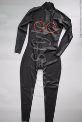 0.6 mm thickness sexy latex catsuit in heavy latex