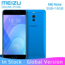 "Meizu M6 Note 3GB RAM 16GB ROM Global Version Moible phone 4G LTE Snapdragon 625 Octa Core 5.5"" 1080P Dual Rear Camera 4000mAh(China)"