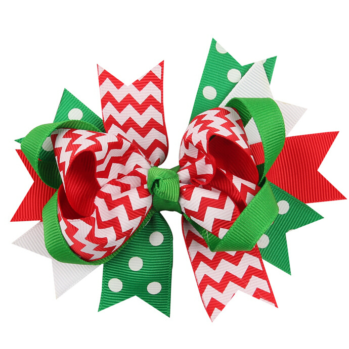 100pcs Classy Christmas Stacked Boutique Bow  Free Shipping