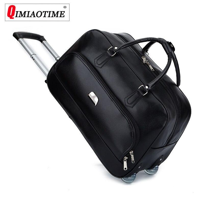 Новинка 2018 года Роскошные Большой ёмкость тележка дорожная сумка с колёса путешествия чемоданы и чемодан Комплект Maletas Y Bolsas De Viaje