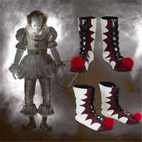 Stephen King's It Pennywise boots Halloween cosplay shoes Carnival Joker boots Unisex Adult clown fancy boots free shipping