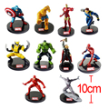 10pcs/lot Marvel Superhero The Avengers Justice League Iron Man Captain America Thor Hulk Wolverine Action Figure Toy Brinquedos