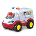 0-3 anos de idade do bebê aprendizagem & educational brinquedo ambulância car styling médico de emergência modelo com luz e música carro elétrico