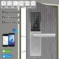 Bluetooth цифровой пароль смарт карты дверь блокировка клавиатуры Сенсорный экран Электрический замок для дом квартира гостиничном номере