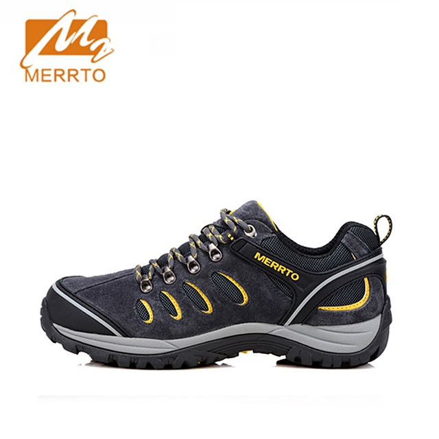 Merrto 2016 Outdoor Men Breathable Hiking Shoes Women Suede Mens Hiking Boots Mountain Shoes Walking Climbing Trekking Shoes Man