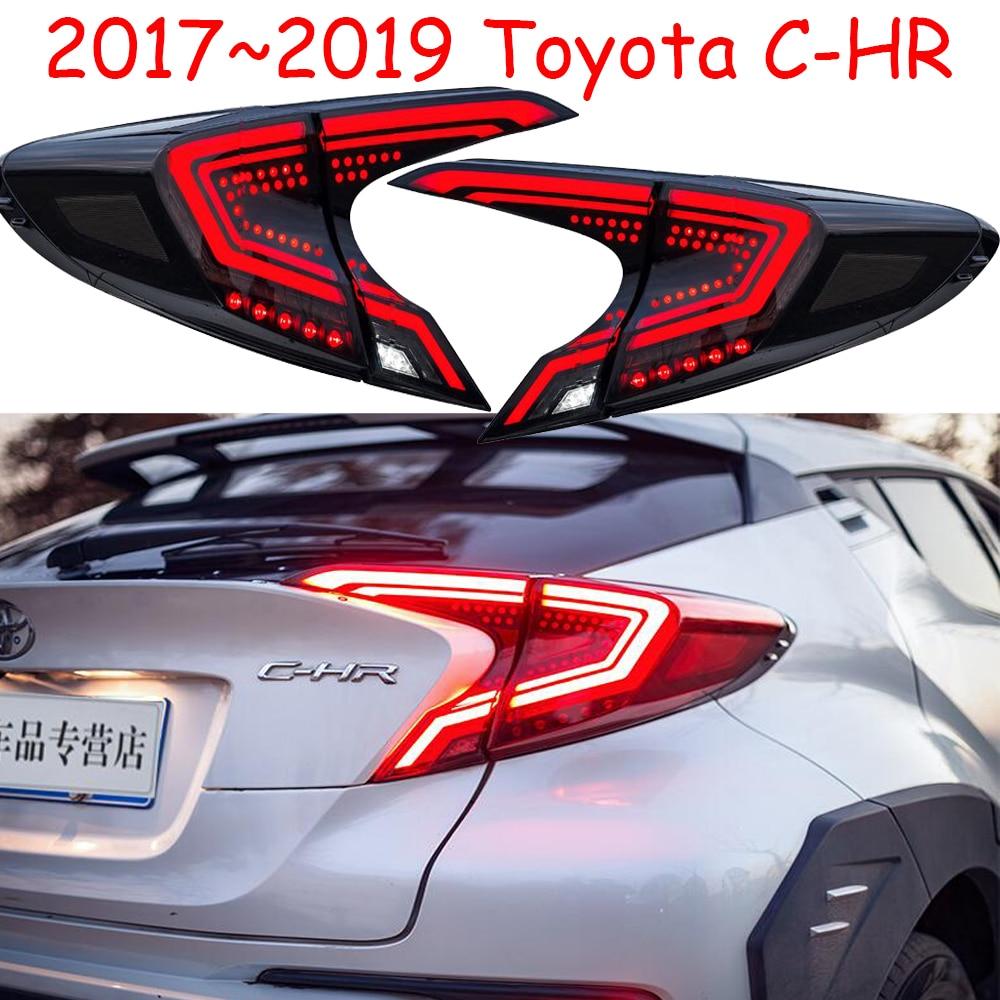 Vidéo style de voiture feux arrières Pour CH-R C-HR CHR 2017 2018 2019 led feux arrières Brouillard lampe feu arrière DRL + Frein + Parc + feux de signalisation