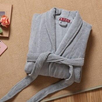 Men's Robe Winter Thick Cotton Bathrobe Mens Warm Long Kimono Bath Robe Male Bathrobes Night Dressing Gown Home Clothes Autumn