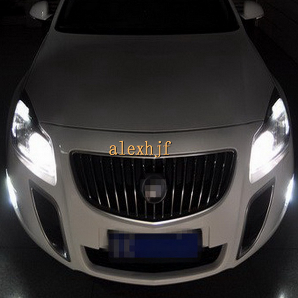 July King LED Daytime Running Lights DRL With Yellow Turn Signal Light case for Buick Regal GS Opel Insignia OPC 2010~ON 1:1
