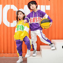 아기 소녀 옷 2 조각 세트 봄 가을 2019 어린이 힙합 댄스 어린이 의상 스포츠 정장 댄스 의상 소녀 의상