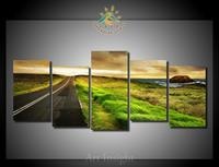 5 Pieces Set Highway Wall Art Print On Canvas For Home Decoration Wall Art Picture For