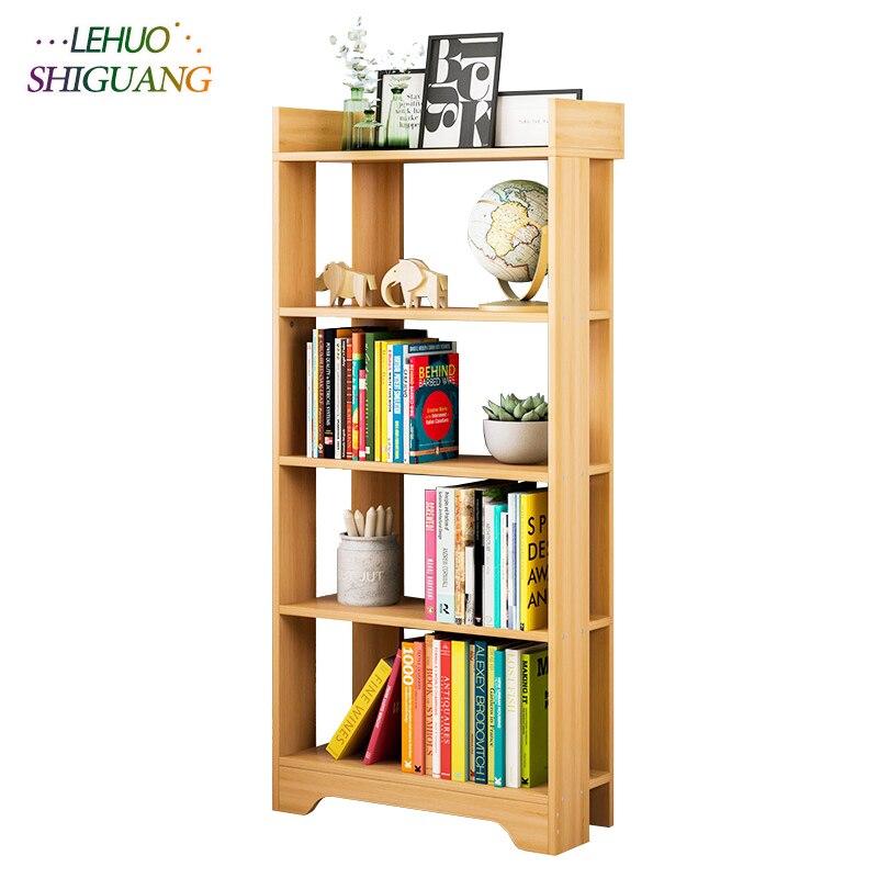 Moderne Simple étagère à livres en bois assemblage étagère murale bibliothèque maison salon meubles organisateur armoire de rangement