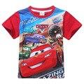 Meninos de verão T-shirt de algodão conforto tops de manga curta dos desenhos animados do carro de impressão roupas casuais crianças das camisas das camisetas camiseta K010605